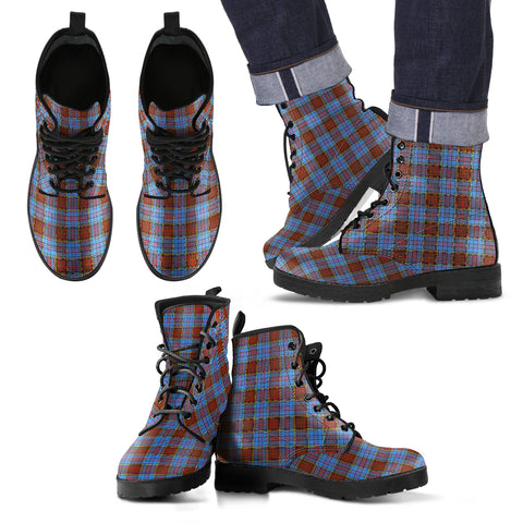Anderson Modern Tartan Leather Boots Hj4 |Footwear| Love The World