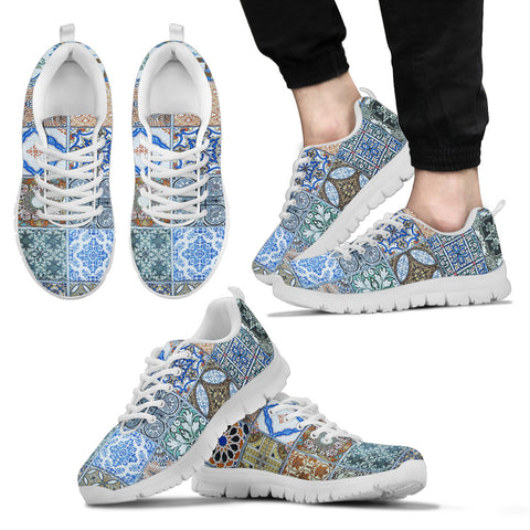 Image of Portugal Sneakers - Azulejos Pattern 09 Z3