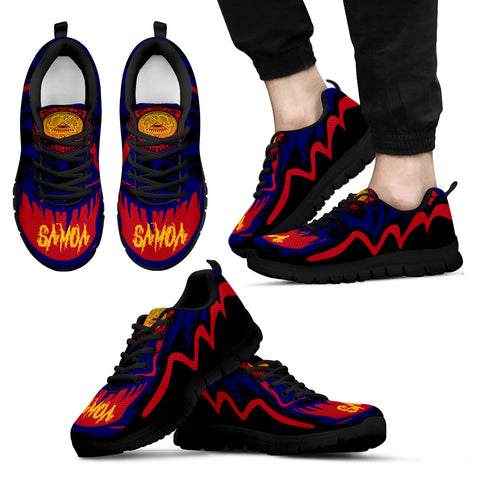Image of American Samoa Sneakers - Crazy Style - Black - For Men