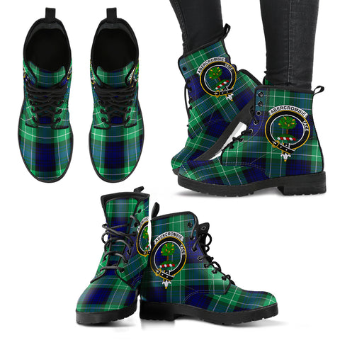Abercrombie Tartan Clan Badge Leather Boots Hj4 |Footwear| Love The World