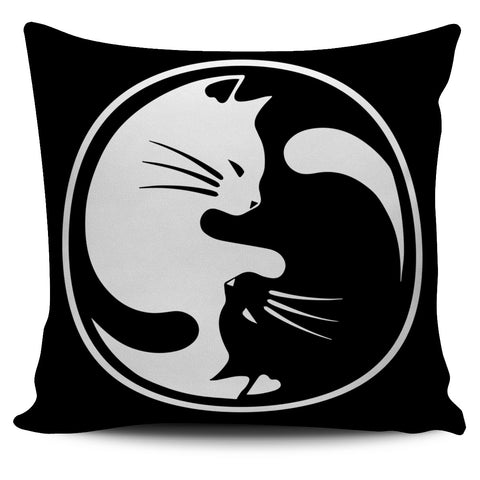 Yin Yang Cat Pillow Case H21