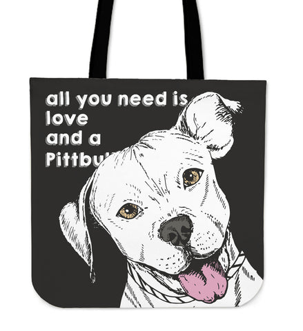 Pittbull Dog Tote Bag - pittbull tote bag, pittbull, tote bag, handbags, online shopping