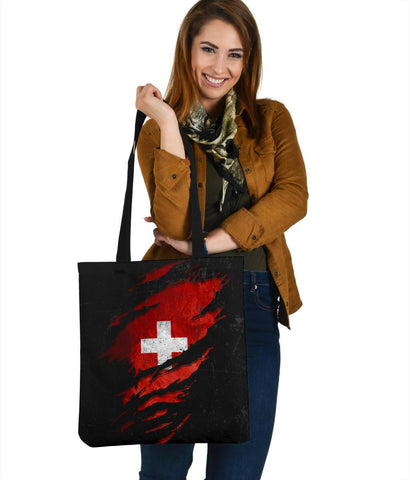 Switzerland in Me Tote Bag - Special Grunge Style A7