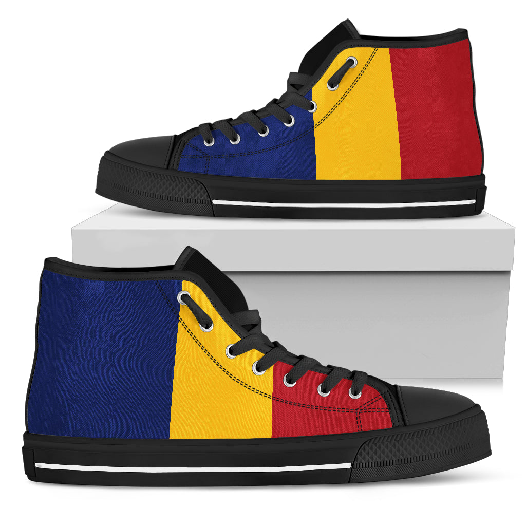 Romania High Top Shoes Original Flag A7