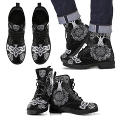 Viking boots- Tree of life men's leather boots NN8