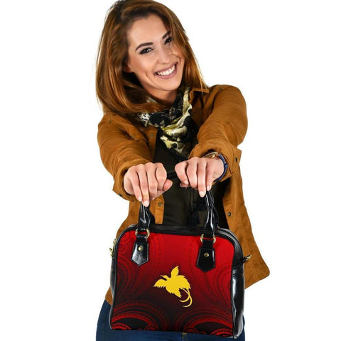 Papua New Guinea Shoulder Handbag - Raggiana Bird of Paradise Polynesian Patterns