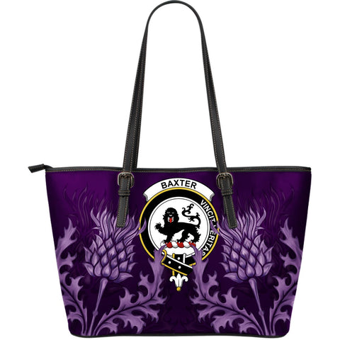 Baxter Leather Tote Bag - Scottish Thistle (Large Size) A7