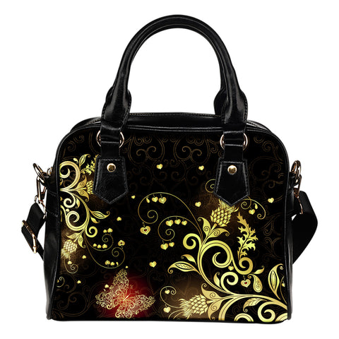 Scottish Golden Thistle Shoulder Handbag | HOT Sale