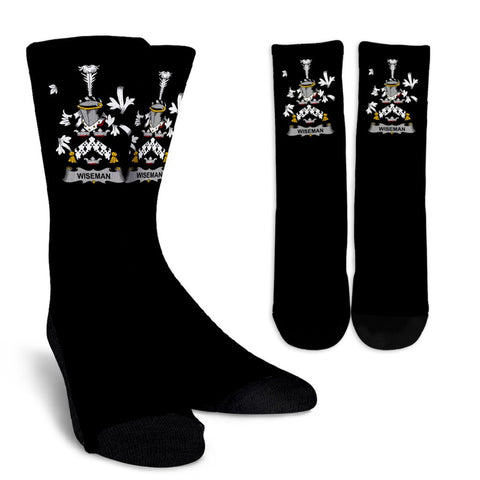 Wiseman Ireland Crew Socks - Irish Family Crest  | Over 1400 Crests | High Quality | 1sttheworld