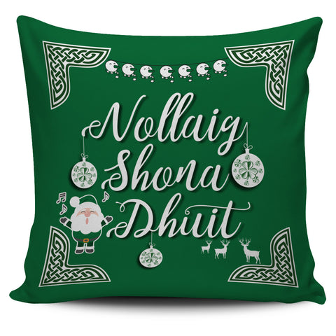 Ireland Pillow Cover Nollaig Shona Duit
