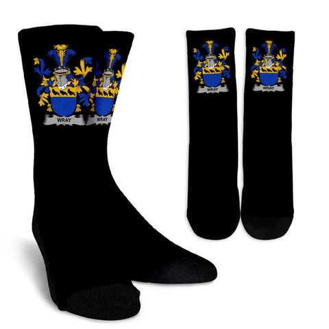Wray Ireland Crew Socks - Irish Family Crest  | Over 1400 Crests | High Quality | 1sttheworld