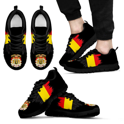 Image of Belgium Sneakers with Coat Of Arms and Flag