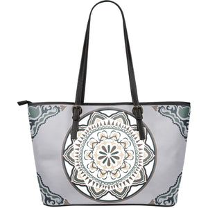 Portugal Leather Tote Bag - Azulejos Pattern Z2