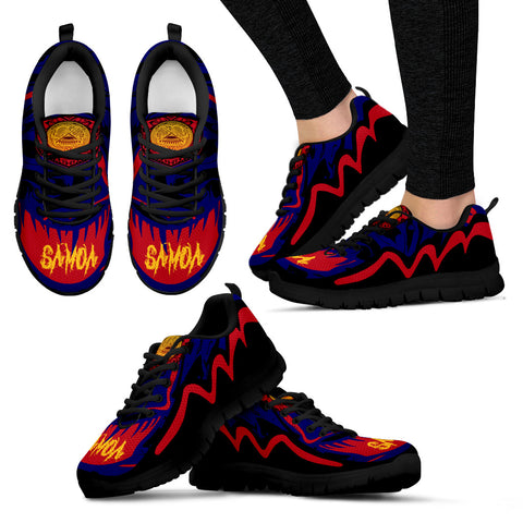 Image of American Samoa Sneakers - Crazy Style - Black - For Women