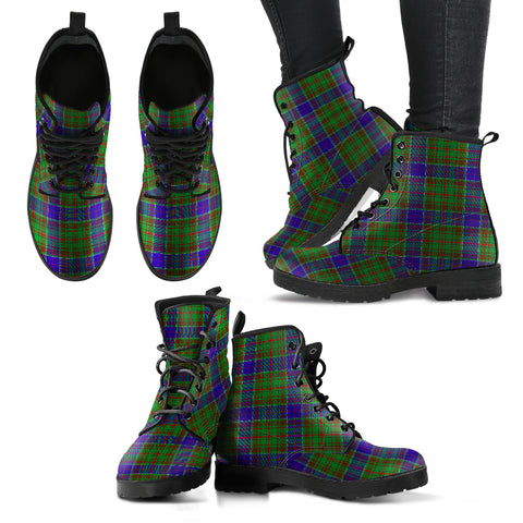 Adam Tartan Leather Boots Hj4 |Footwear| Love The World