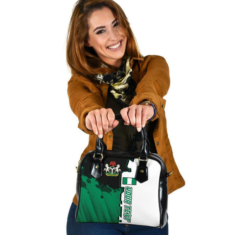 Nigeria Personalised Shoulder Handbag - Independence Day