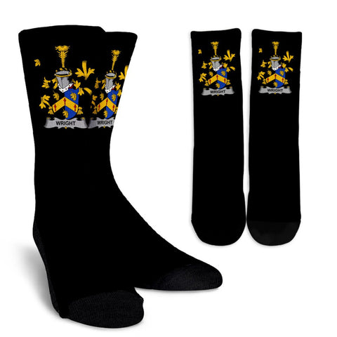 Wright Ireland Crew Socks - Irish Family Crest  | Over 1400 Crests | High Quality | 1sttheworld