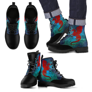 WALES DRAGON GALAXY LEATHER BOOTS