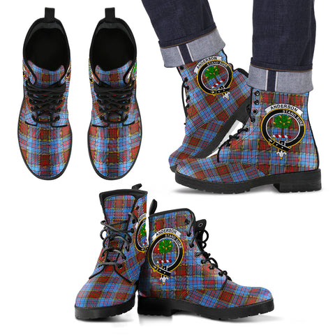 Anderson Tartan Clan Badge Leather Boots Hj4 |Footwear| Love The World