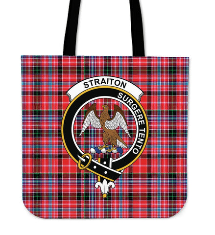 Tartan Tote Bag - Straiton Clan Badge | Special Custom Design