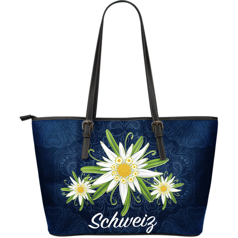 Switzerland Edelweiss 01 Leather Tote Bag A2