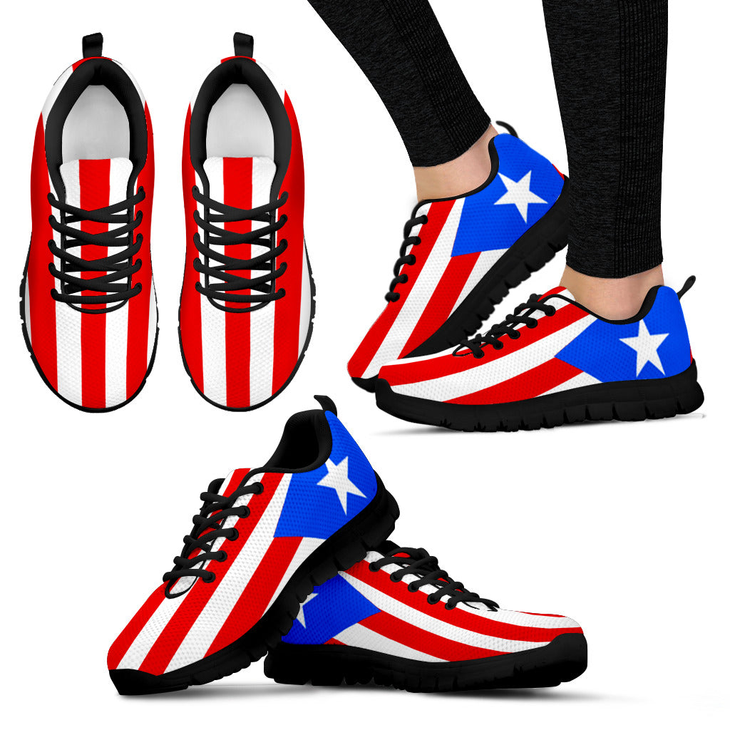 Puerto Rico Flag Mens  Womens Sneakers Shoes -6061