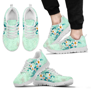 Hawaii Plumeria Flower Sneakers J2