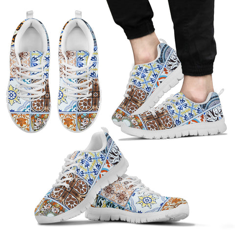 Image of Portugal Sneakers - Azulejos Pattern 10 Z3