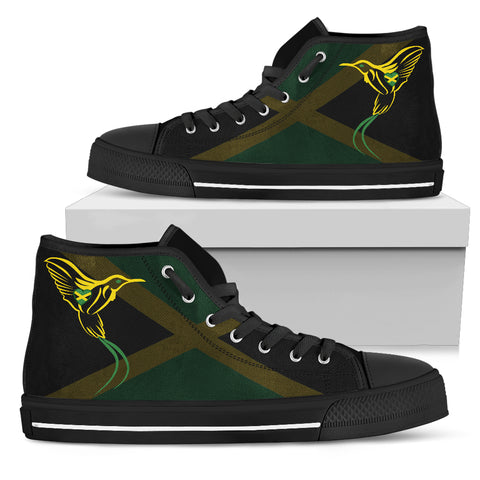 Image of Jamaica Flag And Doctor Bird High Top Canvas Shoes H1