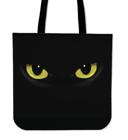 Cat Eyes Cloth Tote Handbag