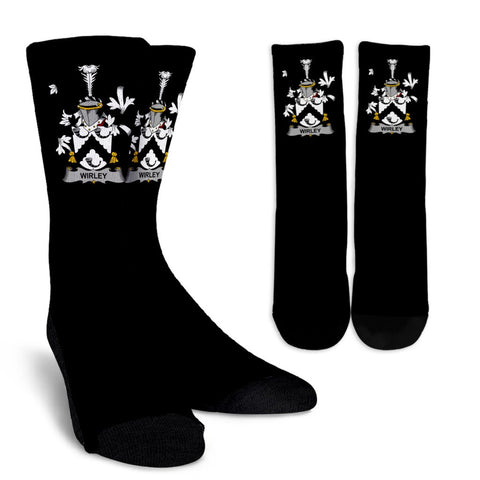 Wirley Ireland Crew Socks - Irish Family Crest  | Over 1400 Crests | High Quality | 1sttheworld