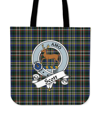 Tartan Tote Bag - Scott Green Modern Clan Badge | Special Custom Design