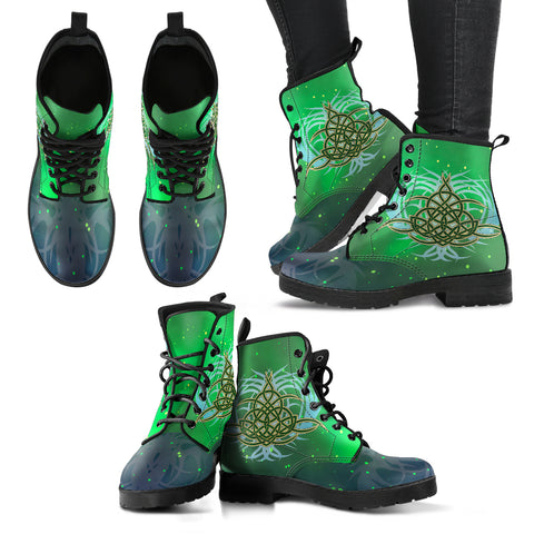 Image of Celtic Pattern Leather Boot J8