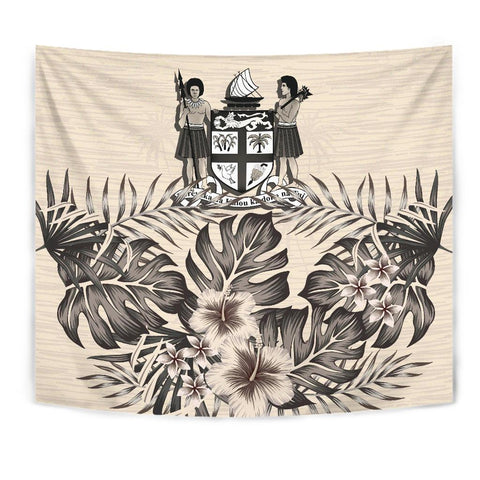 Image of Fiji 2 Tapestry - The Beige Hibiscus A7