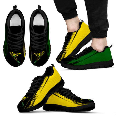 Jamaica Flag And Doctor Bird Sneakers H1 | 1sttheworld.com
