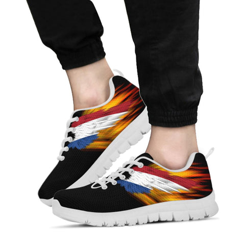 Netherlands Sneakers - Fire Wings and Flag A188