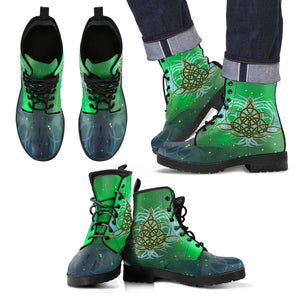 Celtic Pattern Leather Boot J8