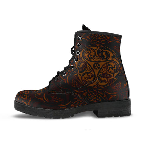 Image of Celtic Boots - Celtic Triskele | Footwear