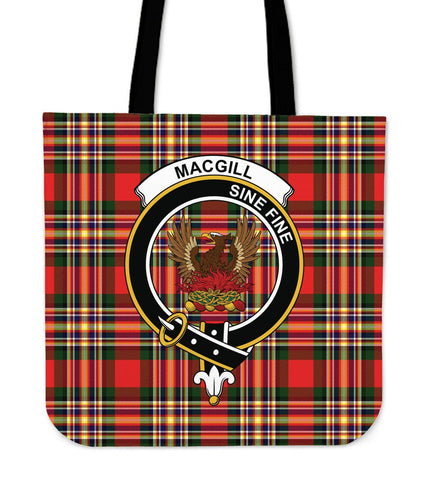 Tartan Tote Bag - MacGill Modern Clan Badge | Special Custom Design