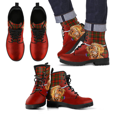 Image of Thistle Highland Cow Royal Leather Boots Hj4 |Footwear| Love The World