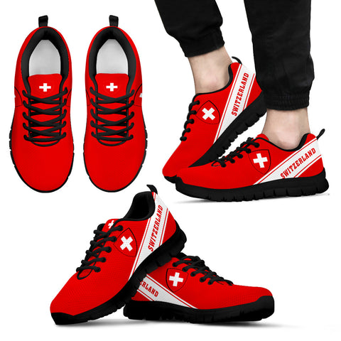 Switzerland Flag Sneakers - Line Style