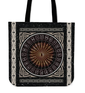 Viking Tote Bag - A Circle Of Healing Runes A1