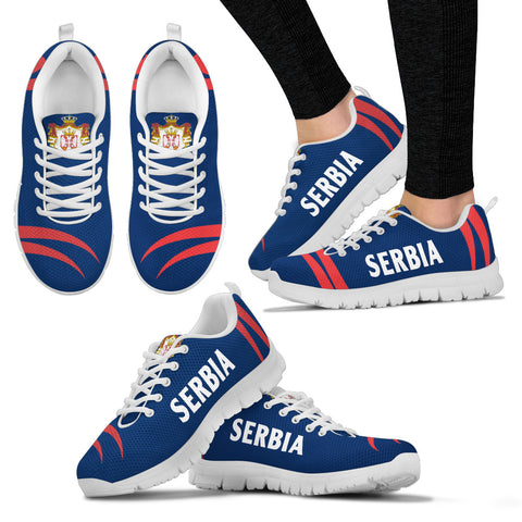 Serbia Sneakers Coat Of Arms - Claws Style