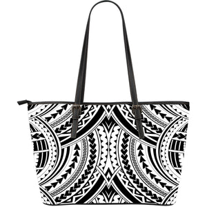 Samoa Maori Large Leather Tote Bag 5 K5