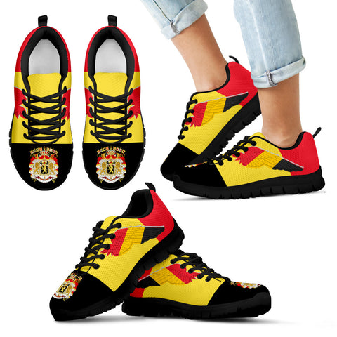 Coat Of Arms Belgium Sneakers Flying K4
