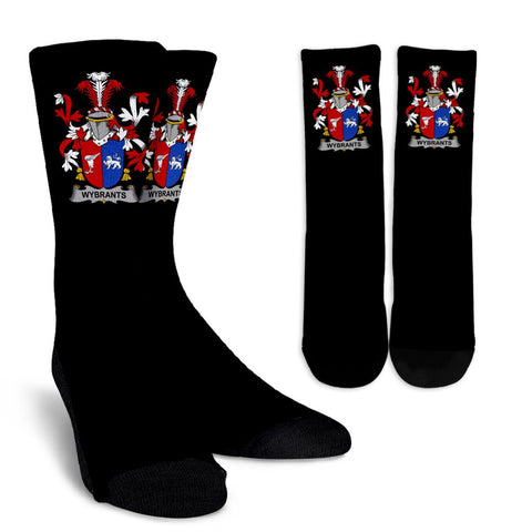 Wybrants Ireland Crew Socks - Irish Family Crest  | Over 1400 Crests | High Quality | 1sttheworld