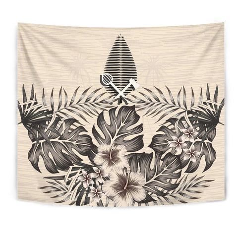 (Alo) Wallis and Futuna Tapestry - The Beige Hibiscus A7