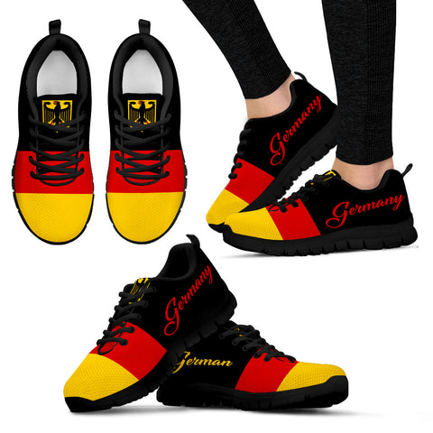 German Flag With German Coat Of Arms Sneakers 2 K5