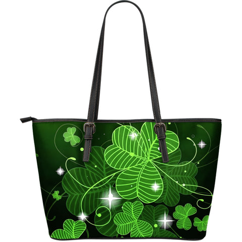 Ireland bags- Shamrock large leather tote bag NN8