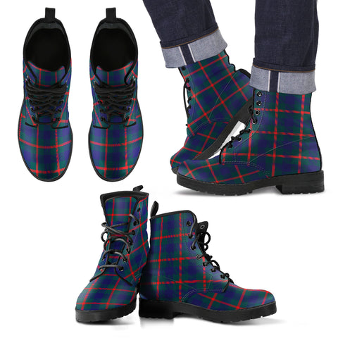 Agnew Modern Tartan Leather Boots Hj4 |Footwear| Love The World